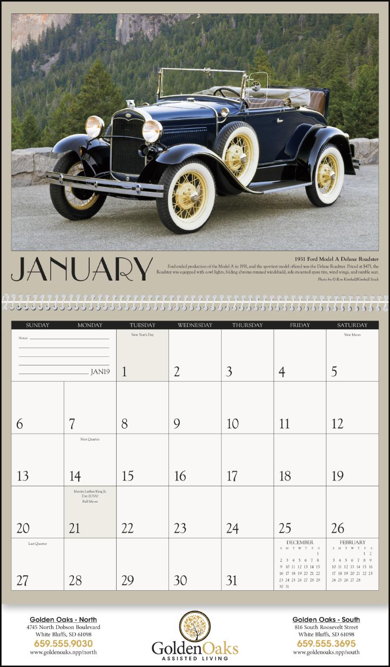 CN-1858 Antique Cars - Calendars Now : Calendars Now