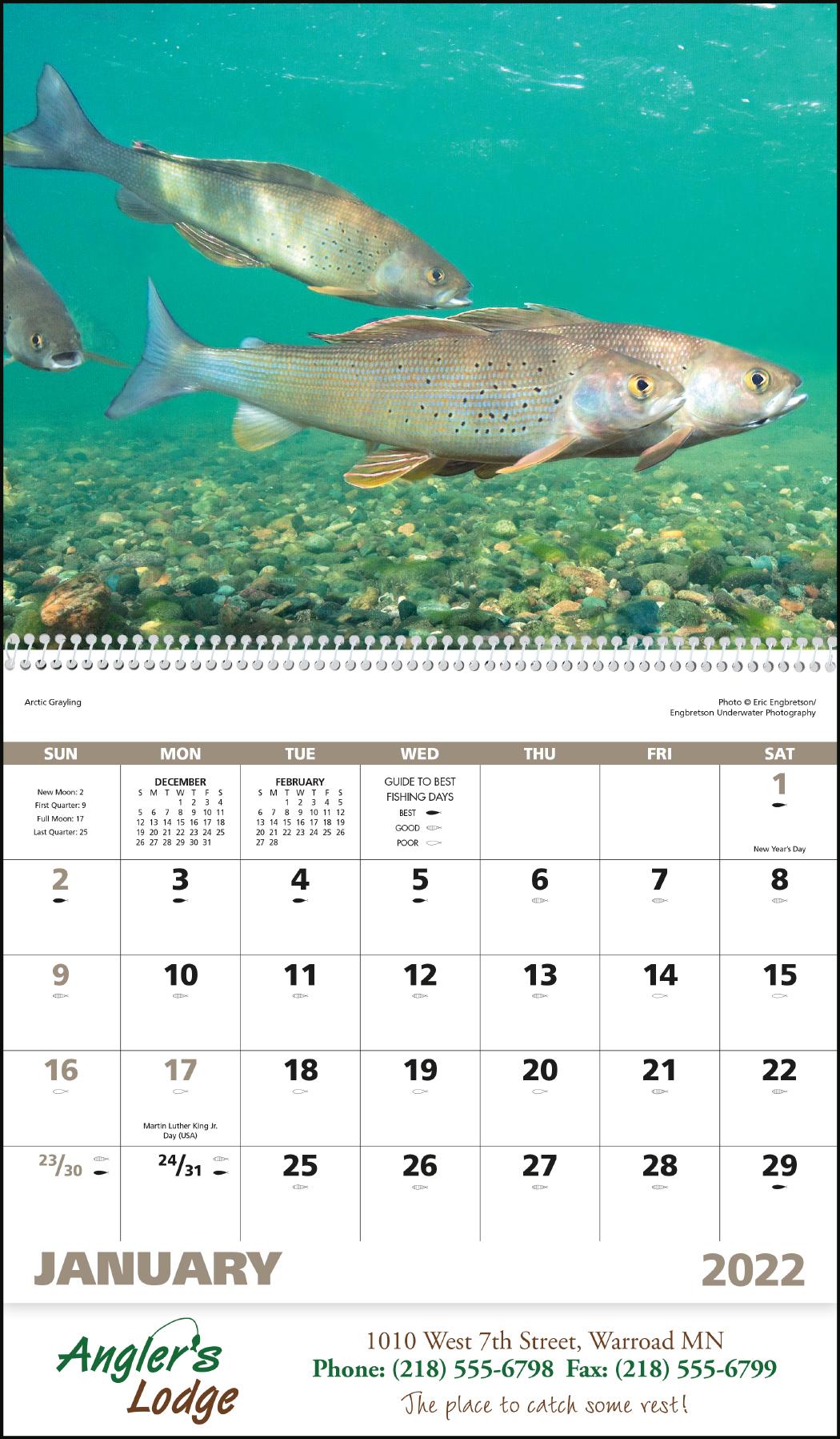 Fishing Calendars Now Calendars Now